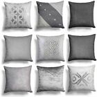 "Sparkle Silver Grey Cushion Cover Collection 18""x18""(45cmx45cm) Cover Collection"