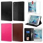 For Apple iPad Mini 4 Folio Stand Leather Ultra Card Slot Case Cover+Screen Film