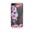 PERSONALISED INITIALS FLOWER HARD PHONE CASE CLEAR COVER FOR HUAWEI P9/P10/P20