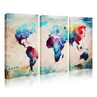 Modern Unframed Canvas Print World Map Home Decor Wall Art Painting Picture