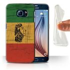 STUFF4 Gel/TPU Case/Cover for Samsung Galaxy S6/G920/Rasta Reggae Art