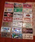 Novelty license plate auto, car, variations to pick new vtg new in package $5.0 USD on eBay
