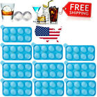 10 Set 20PCS Round Silicon Ice Cube Balls Maker Tray 8 Large Sphere Molds Bar US