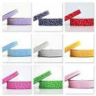 SCATTERED STARS FOLDED 18mm or 30mm BIAS BINDING TRIM 1m 3m 5m or 25m ROLL