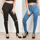 WOMENS LADIES HIGH WAISTED STRETCHY SKINNY JEGGINGS JEANS 6/8/10/12/14/16/18