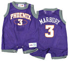 NBA Baby Boys Infant Phoenix Suns Stephon Marbury #3  Retro Romper, Purple