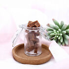 2 oz CLEAR GLASS JARS Bottles with Lids Wedding Party Gift Favors Holders SALE