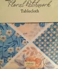 Floral Patchwork Fabric Tablecloth Yellow Blue Butterflies Assorted Sizes