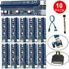 Внешний вид - 10x USB3.0 1x to16x Adapter Extender Riser Card 6 PIN Cable PCI-E Express Mining
