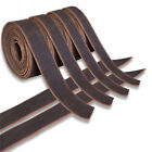 U-S001 Genuine Cowhide Leather Belt Blanks Belt Strip Brown Oil Tanned 5-6 Oz Th