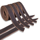 GENUINE COWHIDE LEATHER BELT BLANKS BELT STRIP BLACK OIL TANNED 5-6 Oz THICK