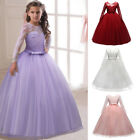 Flower Girl Dresses Long Sleeves Lace Ball Gown For Kid Wedd