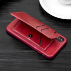 Leather Flip Wallet Card Holder Case Cover For iPhone 6 7 8 X Samsung S8+ S9+