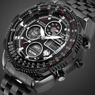 INFANTRY Mens Digital Quartz Wrist Watch Sport Military Tactical Stainless Steel image
