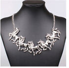 30style Womens Bib Crystal Flower Pearl Pendant Chunky Collar Statement Necklace