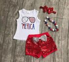ACCESSORIES INCLUDED Custom Boutique Girls US SELLER July 4th Patriotic Fourth