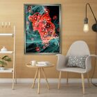 3d Creativity Pattern 5 Fake Framed Poster Home Decor Print Painting Unique Art
