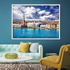 3d Town River 54 Fake Framed Poster Home Decor Print Painting Unique Art Summer