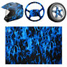 More images of 50x100cm PVA Hydrographic Printing Water Transfer Hydro Dipping Film Blue Fire~