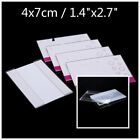 6 10 20 Clear Acrylic Sign Display Card Holder Price Tag Label Stand 4 x 7 cm
