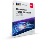 Bitdefender Total Security 2018 for Windows - 1, 2, 3 & 4 Years - No Key / No CD