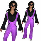 Fancy Dress Mens Costume 70s 1970s 80s Saturday Disco Nights Fever Jumpsuit.