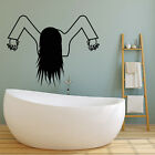 Vinyl Wall Decal Horror Movie Character Funny Halloween Girl Stickers (2689ig)