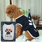 Kitten Small Pet Dog Clothes Soft Summer Cotton Puppy Shirts Vests Costume Print