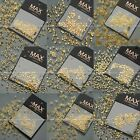 200 PCS Gold Collection Nail Art Decorations Accessories Studs