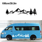 large family car - 1pc 100cm Tree Mountain Decal Scene Large Northwest Car Sticker Truck RV Offroad