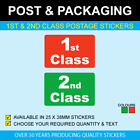 1st & 2nd Class Postal Stickers