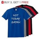Not Today Satan Funny T Shirt Christian Religious Unisex Tee up to -5XL image