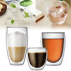 Double Wall Cup Glass Coffee Espresso Beer Mug Insulated Drinkware Home 80-650ml