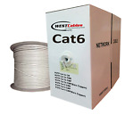 Cat6 Plenum 1000ft Cable UTP 550MHZ  WHITE - RED - YELLOW - GRAY