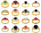 Wedding, Engagement, Anniversary Party Wear Ring Gold Plated New Fashion Ring