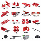 Upgraded Alum Metal Rc Car Diy Spare Parts For 1/12 Wltoys 12428 12423 Red