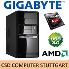 GIGABYTE POWER KOMPLETT-PC: AMD FX-8350 8x 4,2GHz 8GB SSD USB3.1 WINDOWS 10 / 7