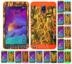 For Samsung Galaxy Note 4 - KoolKase Hybrid Silicone Cover Case CAMO MOSSY 11