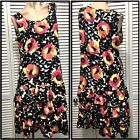 NEW $79 PETER NYGARD DRESS MEDIUM  Rose Multi Floral Sleeveless Tank Gown