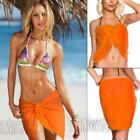 Mini Sarongs New Sheer Fine Chiffon Short Length Sarong Wrap Swimwear Cover Ups <br/> FREE 1st Shipping- Same Day Dispatch - 6 Colours