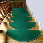 Внешний вид - 1PC Stair Tread Non-Skid Mat Step Carpet Sector Rug Home Decoration Solid Color