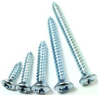 4g 6g 7g 8g 10g RAISED COUNTERSUNK ZINC POZI SELF TAPPING CAR PANEL SCREWS