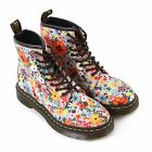 Dr Martens Women's 1460 Pascal Wanderlust Fine Canvas Lace Up Boot Taupe