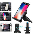 """360° Universal CD Slot Car Mount Holder Stand for Cell Phone & 4-12"""" Tablets Pad"""