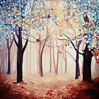 Hand-painted Modern Art  Wall Decor Abstract Oil Painting on Canvas forest QE
