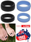 1pc Silicone Rubber Wedding Ring Bands Flexible Comfortable Safe Work Sport Gym