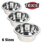 Dog Cat Rabbit Pet Animal Bowls Metal Stainless Steel Classic Trixie All Sizes