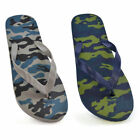 Camouflage Flip Flops Sandals Pool Shoes Sizes 9-3 Junior NEW FREE POST