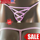 Men Pink Cutout G-String Underwear Comfy Low-Rise Stretch Pouch String Thong OS