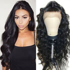 Wavy 100 Peruvian Part Free Human Hair Full Lace Wigs 360 Lace Front Wig Long vd